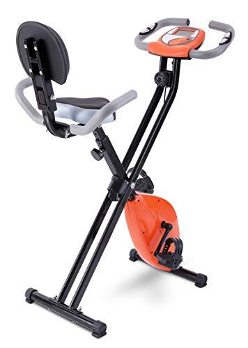 FITODO Cyclette Magnetica Pieghevole in Posizione Eretta con Altezza Regolabile e Livello di Resistenza