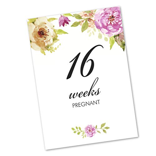 Pregnancy Milestones Cards Baby Maternity – Mummy to be Present Gift, 12 pack (FLC_01)