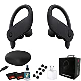 Beats by Dr. Dre Powerbeats Pro in-Ear Wireless Headphones (Black) Bundle - 9 Hours of Listening Time, Sweat Resistant Earbuds - with Headphone Cleaner, Extra USB Power Cube - Pro Bundle