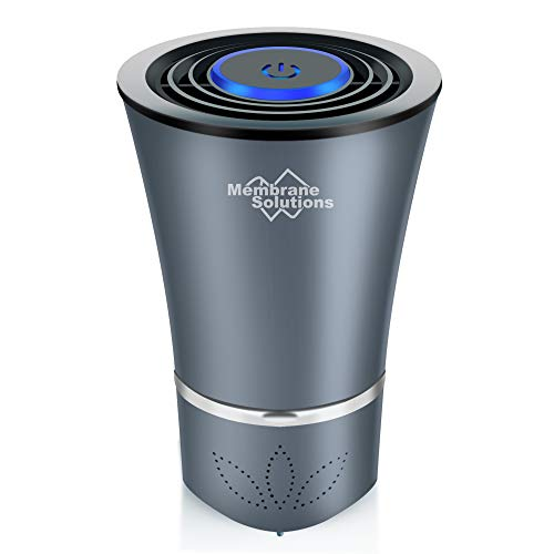 Membrane Solutions SimPure Car Air Purifier with HEPA Filter, Remove Dust, Pollen, Smoke, Odor, with Touch Screen, 2 Fan Speed