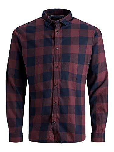 Jack & Jones Jjegingham Twill Shirt L/S Noos Chemise, Port Royale, L Homme