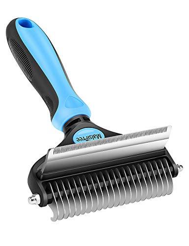 Cepillo de aseo para perros y gatos, 2 en 1, para eliminar enredos, para perros pequeños y grandes, para razas de pelo largo y corto, hasta un 95% menos de pérdida de pelo