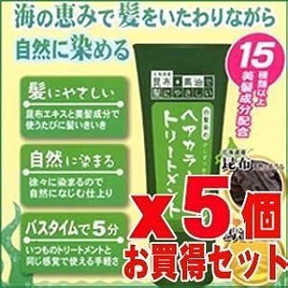昆布と馬油のヘアカラートリートメント 【ブラック】 200gx5個