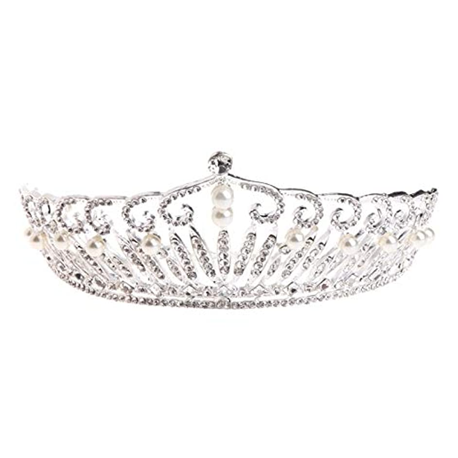 Bridal Hair Accessories Headband Crown Tiara Diadem Jewels Crown Pearl Pageant Wedding Birthday Party -W128