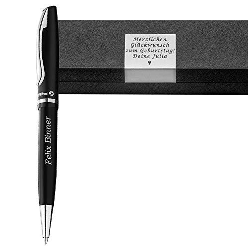 Pelikan - Kugelschreiber mit Gravur inkl. Geschenkbox mit Wunschgravur als Geschenk & Wunschsymbol Jazz Elegance Black PS43