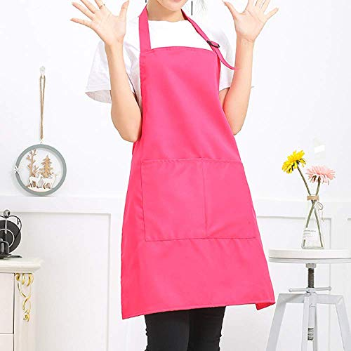 LYDCX Weibliches Rosa des Schutzblechrestaurant-Hot-Pot-Restaurantküchenlendenfruchtshop-Supermarktkellner-Arbeitsschutzblechs