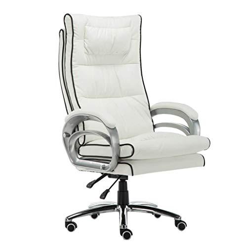 XKKD klapstoel met 76 cm hoge rugleuning, grote zitting en kantelfunctie, bekleed, PU-leer, bureaustoel, massage, lendenrugkussen, computerstoel
