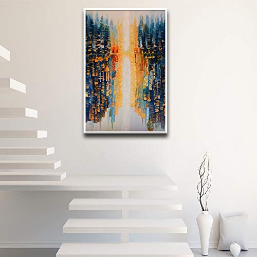 wopiaol Kein Rahmen Leinwand Malerei Nordic Pure Freehand Painting Abstrakte Impression Urban Art Veranda Modern Hd Printed Scenery Poster Home Decor