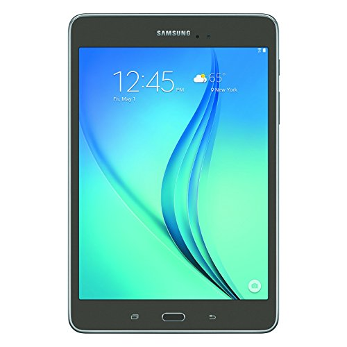 Samsung Galaxy Tab A SM-T350 8-Inch Tablet (16 GB, Titanium) W/ Pouch (Renewed)