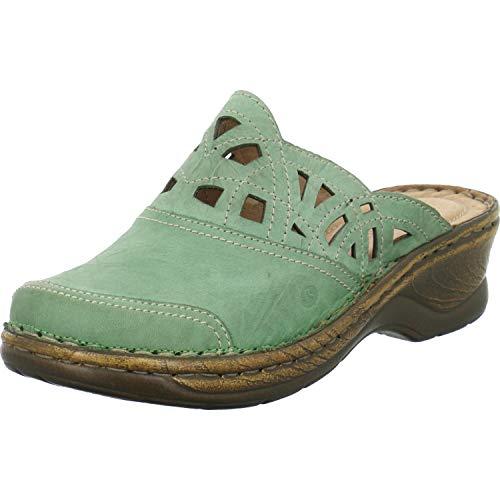 Josef Seibel 56541-95 Catalonia 41 Damen Schuhe Pantoletten Clogs, Schuhgröße:37, Farbe:Grün