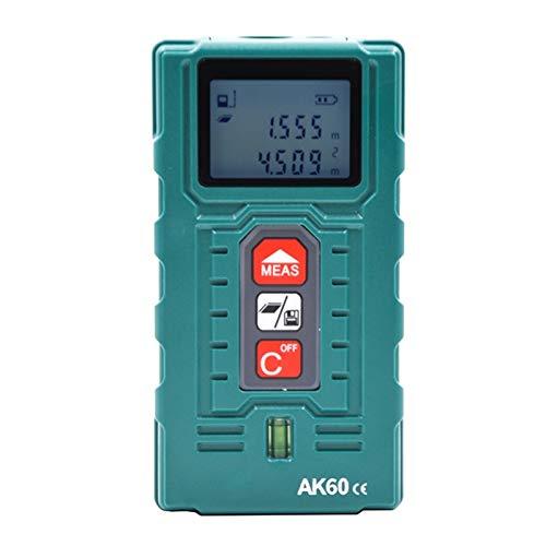 Medidor De Distancia Láser, Con Nivel De Burbuja, LCD De Alta Precisión Anti-Impacto Y Retroiluminación, Medir Distancia, Área Y Volumen, Modo Pitagórico,80m