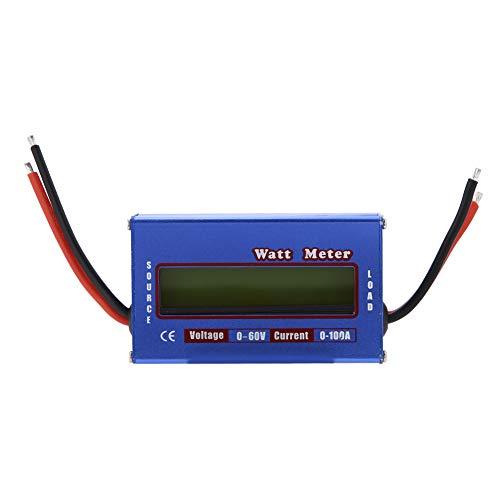 Digital Wattmeter, DC 60V / 100A Leistungsmesser Power Analyzer mit LCD Hintergrundbeleuchtung