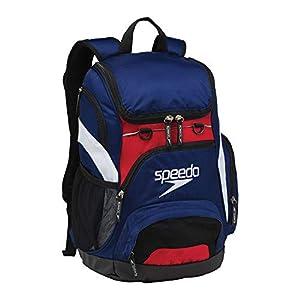 (Navy/Red/White) - Speedo Large Teamster Backpack, 35-Litre