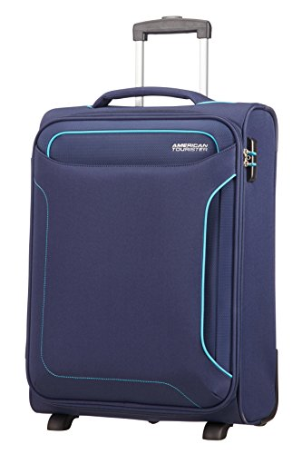 American Tourister Holiday Heat - Upright Equipaje de Mano, 55 cm, 42 l, Azul (Navy)