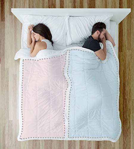 TWOVET Dual Zone Couples Comforter - Warm (Thick) Side -...
