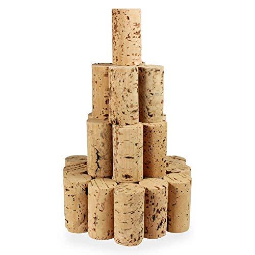 Tuuters 100 Bastelkorken, Medizin-korken, Weinkorken | Länge = 45 mm, ⌀ = 24 mm ✪ Sonderposten ✪ (45x24mm)