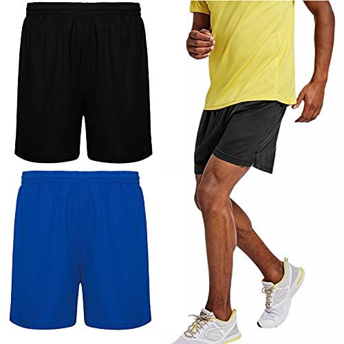 ROLY Pantalones Cortos Hombre Pack de 2 Shorts Deportivos Pantalón Corto Hombre para Deporte Dry FIT Bermudas Hombre para Running, Futbol, Pádel, Tenis, Crossfit (M, m)