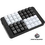 Koolertron Single-Handed Programmable Mechanical Keyboard with Cherry MX Red Switch,All 48 Programmable Keys Tools Keypad,8 Macro Keys, PBT Keycaps.[SMKD72-A]