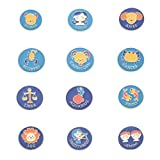 EXCEART 12 Piezas 12 Constelaciones Broche Esmalte Pin Zodiaco Chino Pecho- Pin Solapa Joyería para...