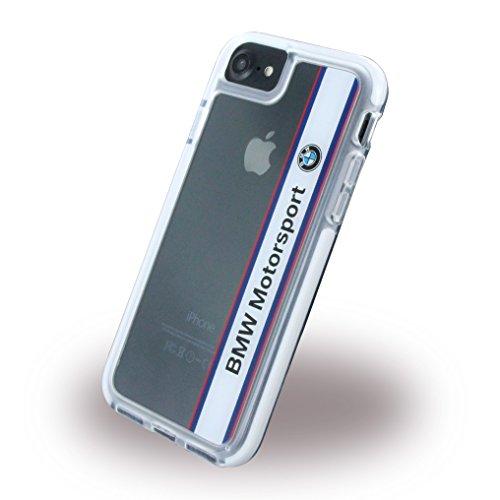 BMW BMHCP7SPVWH Motorsport Stoßfest Hart Schutzhülle für Apple iPhone 7, Vertical Logo Weiß