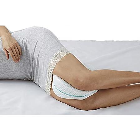 Restform Leg Pillow Cuscino Medico Per Gambe Originale Come Visto In Tv Morbido Cuscino In Memory Foam Per Le Gambe Aiuta A Correggere La Postura Del Sonno Contro Mal Di Schiena