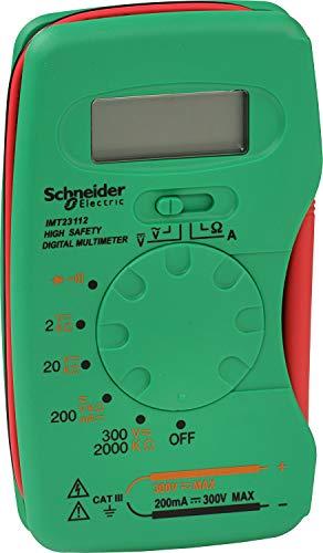 Schneider Electric SC5IMT23212 - Multímetro digital de bolsillo, 300 V, color verde