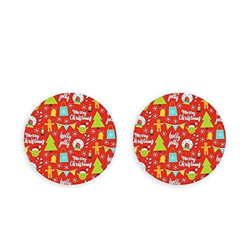 Candy Elk Animal Christmas Hat Mini abridor de botellas de acero inoxidable redondo imán de nevera 2 piezas