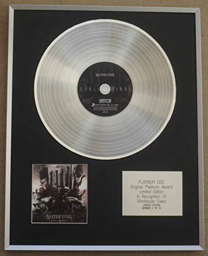 Century Music Awards - MAITRE GIMS – Limitierte Edition CD Platin-Disc – Subliminal.