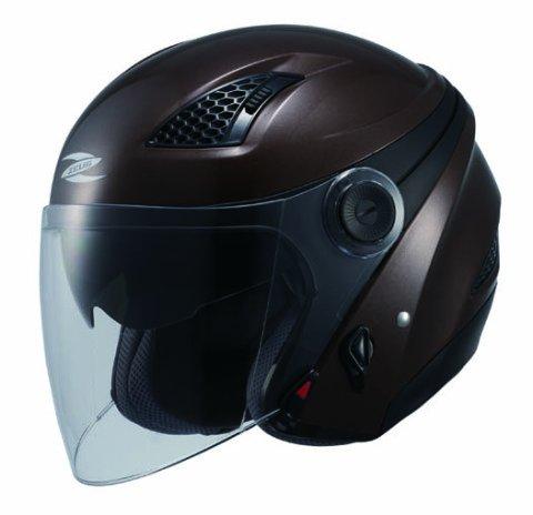 ナンカイ(NANKAI) ZEUS クロノス ジェットヘルメット(インナーバイザー装備) パールブラウン (M) NAZ211BRM