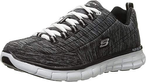 Skechers Synergy, Zapatillas de Deporte para Mujer, Negro (BBK), 36.5 EU