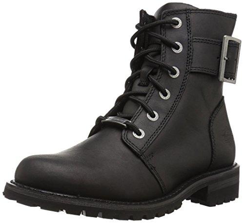 HARLEY-DAVIDSON FOOTWEAR Women's Stylewood Motorcycle Boot, Black, 6 Medium US