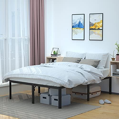 Amazon Basics Heavy Duty Non-Slip Bed Frame with Steel Slats, Easy Assembly - 18'H, (King)
