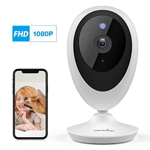 Telecamera IP WiFi, Wansview 1080P Videocamera WiFi per Casa Bambini Anziani Pet con Rilevamento di Movimento, Audio Bidirezionale, Compatibile con Alexa K5 Bianco
