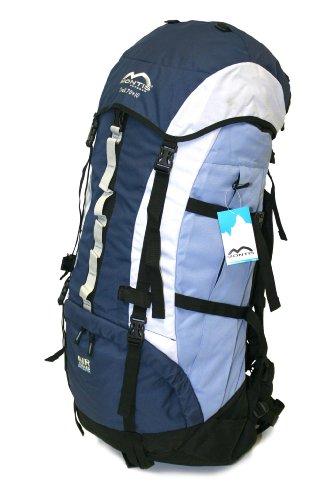 MONTIS Trek 70+10 Trekking-Rucksack, Wander-Rucksack & Reise-Rucksack in einem, ermöglicht Dank Regenschutz auch Kletter- & Campingtouren, im Militär-Rucksack Look mit viel Extras & Belüftungssystem