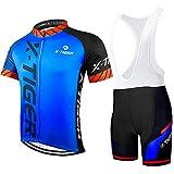 X-TIGER Hombres de Bicicleta con 5D Gel Acolchado MTB Ciclismo Maillots Tirantes Culotte Pantalones Cortos Culotes…