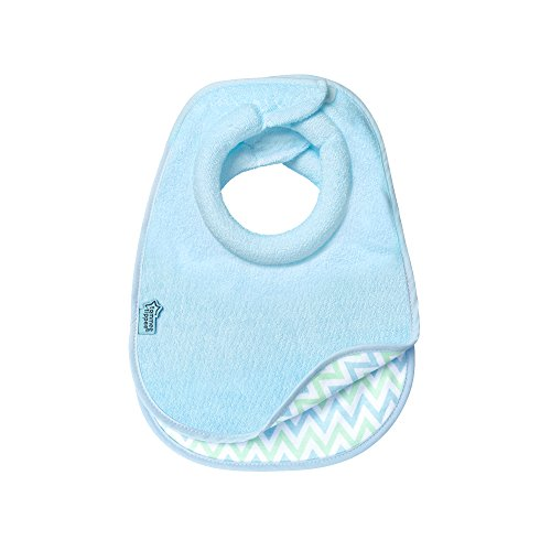 Tommee Tippee Closer to Nature Comfi-Neck Reversible Baby Bib with Soft Padded Collar, Boy,...