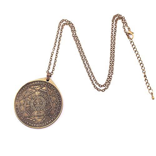 MSTOT Mode Schutzengel Halskette, Sieben Engel Solomon Kabala Amulett Anhänger Halskette,