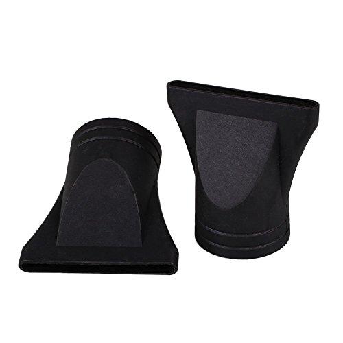 MSmask 2pcs / Set ancha Secador de pelo Boquilla PC Cuidado del Cabello Estilismo Peluquería Protect