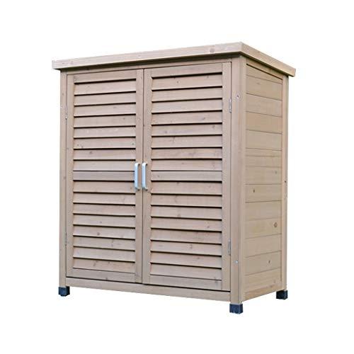 Aufbewahrungsboxen Gartenschränke Außenschränke Wasserdichte Und Sonnenschutz-Holzwerkzeuge Kleinigkeiten Multifunktionale Braune Regale Mit Großer Kapazität ( Color : Brown , Size : 87*47*96.5cm )