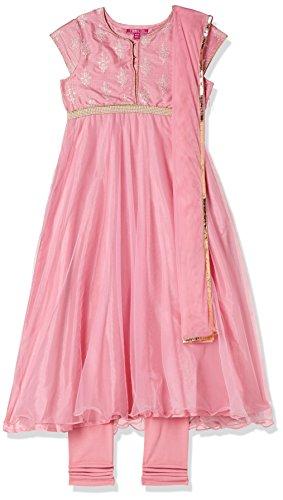 Biba Girls Cotton Anarkali Salwar Suit Set (Kw2779_Pnk_3, Pink, 2 Years-3 Years)