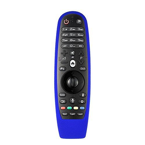 Richer-R Funda para Control Remoto, Funda Protectora de Silicona Suave a Prueba de Polvo para LG AN-MR600,Mando a Distancia de TV/Cubierta Completa(Azul)