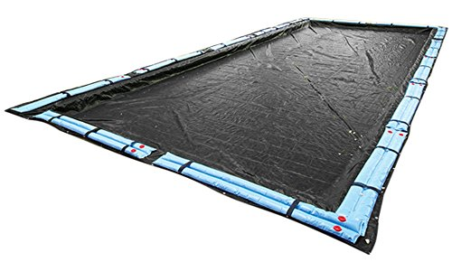 Buffalo Blizzard Deluxe Winter Cover for 12-Foot-by-24-Foot Rectangle In-Ground or Above Ground Swimming Pools | Blue/Black Reversible | 5-Foot Additional Material