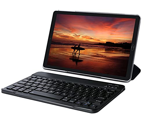Tablet 10 Pollici 4GB RAM 64GB SSD ROM Android 10 GOODTEL Tablets con Doppia Fotocamera | WiFi | IPS | 8000mAh | FM | Bluetooth | MicroSD 4-128GB Espandibili, con Tastiera Bluetooth, Nero