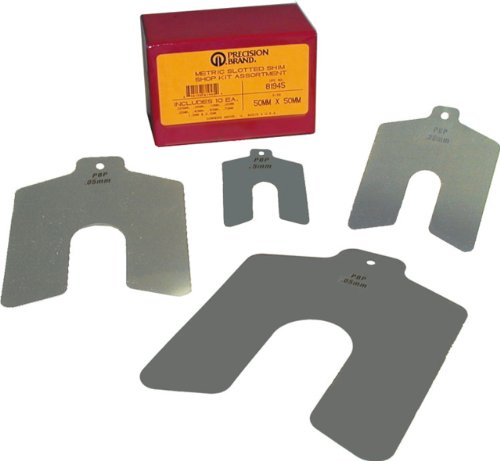 Stainless Steel Slotted Shim Shop Kit, 75mm x 75mm (Pack of 100)