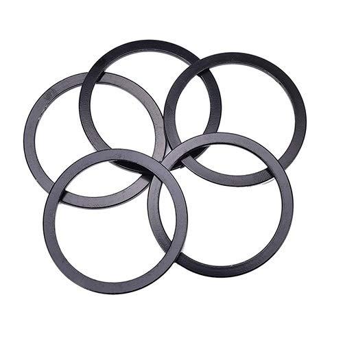 SHIYM-ZXC, Bicicletas 5 X 2 Mm De Montaña del Volante Lavadora Pedalier Eje Central MTB Aluminio Aleación Eje De La Bicicleta Distanciador Junta Espaciador (Color : Negro)