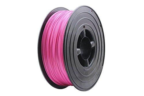 3D Filament 1kg B-Ware Filament Rolle in verschiedenen Farben Rot Gold Silber Grün Blau Braun Lila Violett Beige Transparent Gelb Orange Schwarz Weiß (Pink (B-Ware))