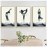 Jwqing 3 stück indischen Stil abstrakte Dame Yoga Muster