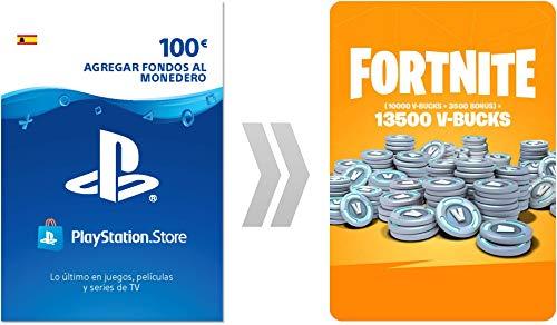 PSN Credito para Fortnite 13500 V-Bucks | Código de descarga PS4 - Cuenta española