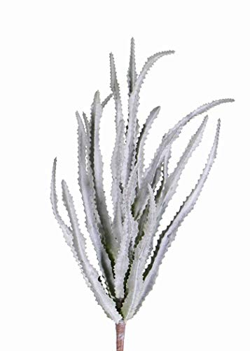 artplants.de Set 13 x Künstliche Sukkulente Euphorbia trigona Reese auf Steckstab, grau - grün, 30cm, Ø 20cm