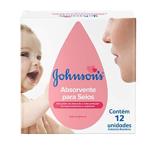 Absorvente Para Seios, Johnson's Baby, Branco, 12 Unidades